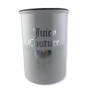 Juicy Couture Brush Cup w/ Heart Brushes Holder